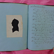 SALE PENDING Civil War Girl's Forget Me Not Diary with Lock of Hair~Annie Lanig