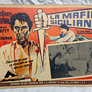 Movie Lobby Poster La Mafia Siciliana Anthony Quinn