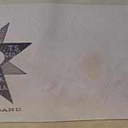 Civil War Patriotic Postal Cover Slave Contraband !