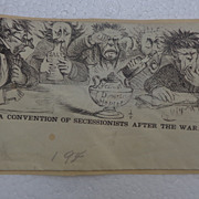 A Convention of Secessionist After The War~Scarce Civil War Patriotic Cover