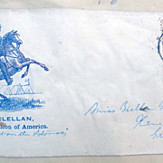 SOLD Civil War Cover George McClellan Napoleon of America Rose Pink Washington Stamp
