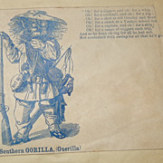 A Southern Gorilla Scarce Civil War Patriotic Cover