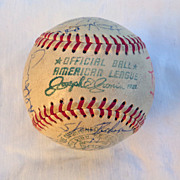 1969 New York Yankees Autographed Team Baseball