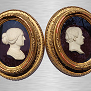 A Pair of Georgian High-Relief Wax Portraits c.1810