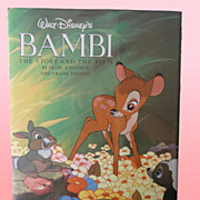 SALE PENDING Walt Disney's Bambi First Edition w/Flip Book Factory Sealed Unopened