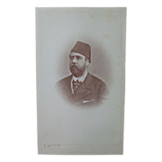 Rare CDV Photograph of Khedive of Egypt by Calamita of Cario