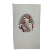 Rare CDV Photograph of Hassan Pasha of Egypt by Calamita of Cario