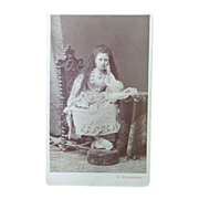 Rare CDV Photograph of Zena Zeina Pana Princess Egypt
