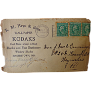 Kodak Camera Postal Cover Hagerstown,Md 1918