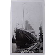 SS Titanic Postcard at Thompson Dock,Ireland