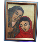 Masterpiece Oil Painting by Ester Rahim Art Counsil of Pakistan