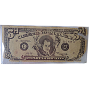 Rare George Wallace Segregated States of America 3 Dollar Bill