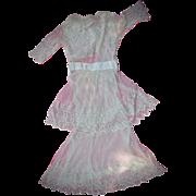 Beautiful c.1910 French Netting Dress