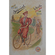 SOLD Old Imperial Bicycle Advertising Poster