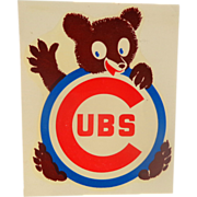 1960's Chicago Cubs Auto Window Decal