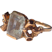 Estate Ladies Sapphire Ring in 14 ct. Gold c.1930's