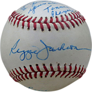 Reggie Jackson Personally Signed Baseball to Tennis Star Chris Evert