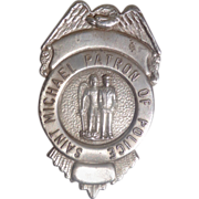 1940's St. Michael Patron of Police Badge Quality Made