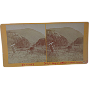 Strange Stereoview Elephant Head Mountain  Vermont 1877