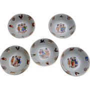 Charming  Pre- WW 2 Hand Panted Childrens Bowls made in Bavaria