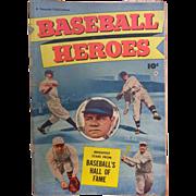 SOLD Baseball Heroes Comic Book Babe Ruth