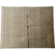 1831 South Carolina Manuscript Slave Plantation Inventory of James Glen ~FASCINATING