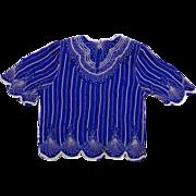 Dazzling Art Deco Silk Beaded & Sequin  Blouse & Skirt Set