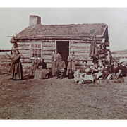 Stereoview: Mormon Family of the Prairie Union Pacific Railroad