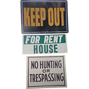 Groovy old Property Real Estate  Metal Signs