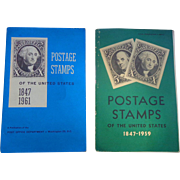 Stamp Philately Albums with stamps 1847-1961