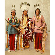 William Henry Jackson photograph Apache Chiefs Garfield, Ouche-te Foya and Sanches c.1899