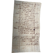 John G.Pickens Lauderdale Coutnty,Alabama 1832 Sales Receipt for Savage & Davis