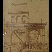 Albumen Photo of Smithfield Bridge,Pittsburgh 1889-90