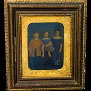 SOLD 1854 Louisville, Kentucky Folk Art Painting of Danforth Children Museum Quality