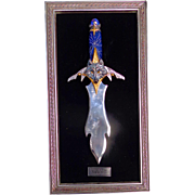 SOLD RICHARD CONRAD Multi Color Lord Of The Arctic Moon Collectible Knife W/Plaque
