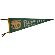 Boston Beans Boston,Mass Pennant c.1930's