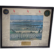 Impressive Framed Pentagon Autographed Display from 1990