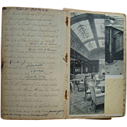 Traveling Sisters, 1915 Ocean Liner Travel Diary Directly Referencing Lusitania, with Photogra