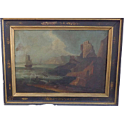 Old Masters 18th Century Oil Painting of Jonah and the Whale