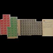 1923 Harding Memorial Black Sheet of 72 Stamps & Pilgrim Tercentenary Mayflower Sheet of 39