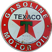 SALE PENDING 1957 Texaco Metal Gasoline Advertising Sign