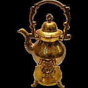 Eloquent Brass Tea Pot with Stand & Burner