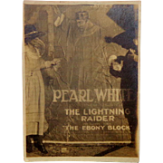 1919 Silent Film Movie Poster PEARL WHITE and The Lighting Raider Boris Karloff Day View