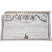 Civil War Gettysburg,Pa  Proclamation of Damages Awarded to H.M.Conley's Farm Signed ...