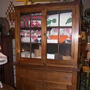 RARE ~1830's American Jackson Press Flatback Walnut Cabinet