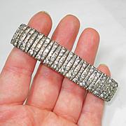 SOLD RARE Art Deco 30'S SIGNED ELSA RANDEL WEST GERMANY~ Channel Set RS Bracelet
