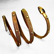 SOLD Victorian Figural Jeweled Snake Bracelet
