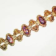 SALE PENDING Huge Shimmering Copper Enamel  Bracelet Vintage
