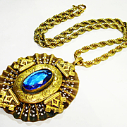 SALE HUGE Victorian Revival Jeweled Renaissance 1930s Necklace