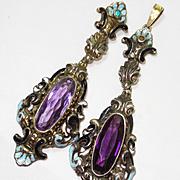SALE LG Austro Hungarian Jeweled Enameled Pedants / ERs